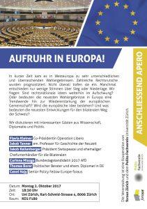 Aufruhr in Europa