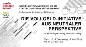 Referat: Die Vollgeld-Initiative aus neutraler Perspektive