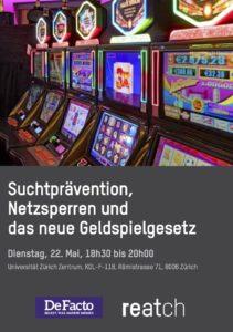 Podiumsgespräch: Suchtprävention, Netzsperren und das neue Geldspielgesetz