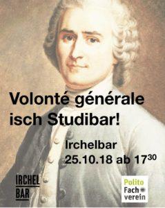 Volonté générale isch Studibar! – Donnerstag, 25. Oktober