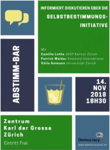 """Abstimm-Bar Initiative """"Schweizer Recht statt fremde Richter"""""""