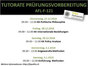 Prüfungsvorbereitungstutorate 27.12 – 05.01