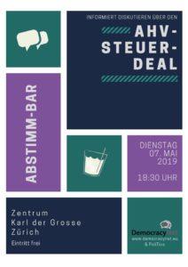 Abstimm-Bar zum AHV-Steuer-Deal 07. Mai