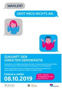 Ständeratspodium: Die Zukunft der direkten Demorkatie